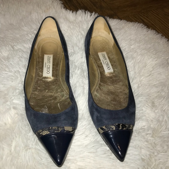 33260635943 Jimmy Choo Ginny Suede Pointy Toe Flats